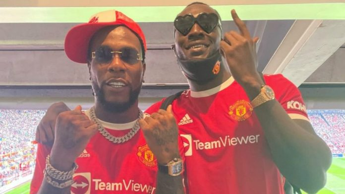 Burna Boy at Old Trafford for Manchester United