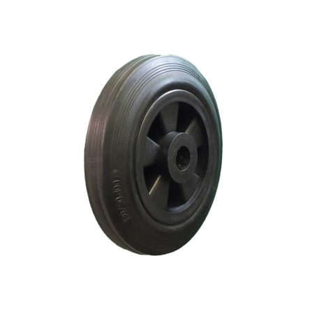 160MM BLACK RUBBER TYRE WITH ROLLER BEARING