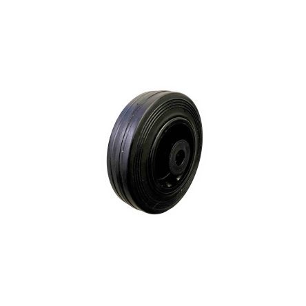 100MM BLACK RUBBER TYRE WITH ROLLER BEARING