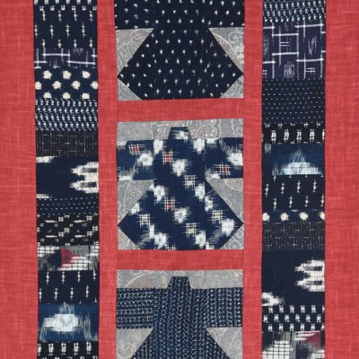 Kasuri Kimono with Red Border © Susan Ball Faeder