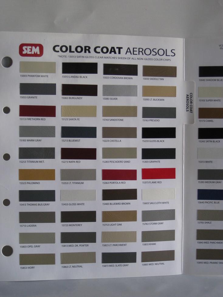 Aerosols Fabric Cleaners Vinyl Dye