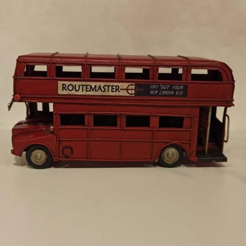 Ônibus londres Inglaterra miniatura vermelho