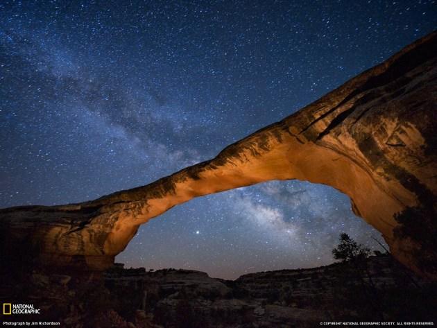 Owachomo Bridge at night (Utah)