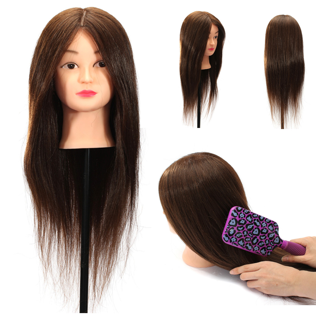 100 Real Human Hair Practice Head Training Mannequin