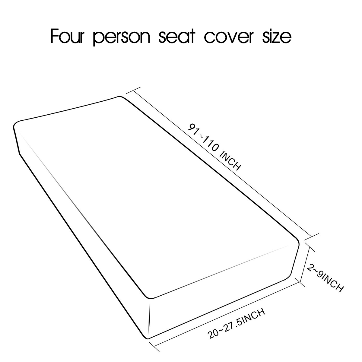 1 4 Seats Waterproof Sofa Seat Cushion Cover Couch