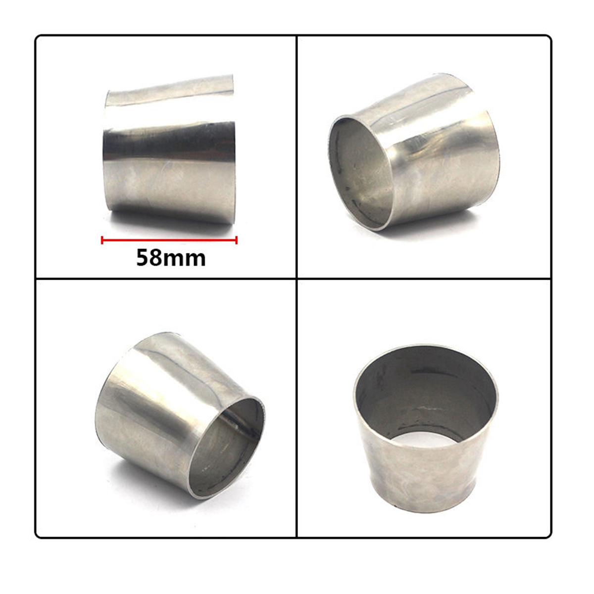 exhaust pipes tips automotive 76mm