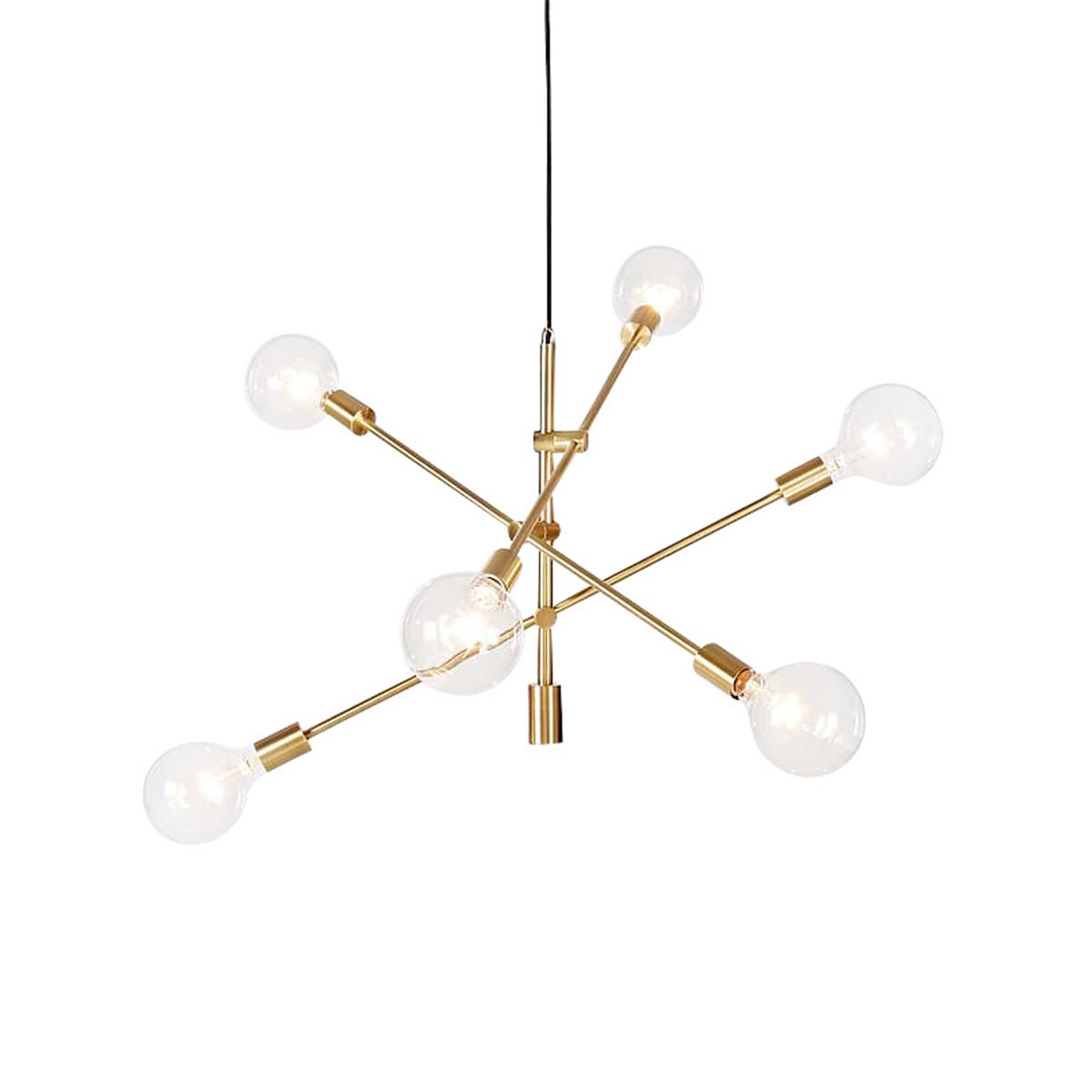 Modern Chandeliers 6 Lights Pendant Lamp Industrial Metal