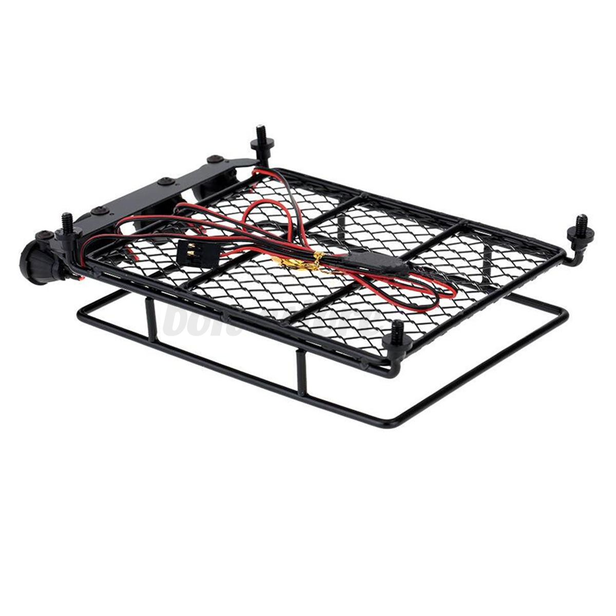 New Roof Luggage Rack With Led Light Bar For 1 10 1 8 Rc