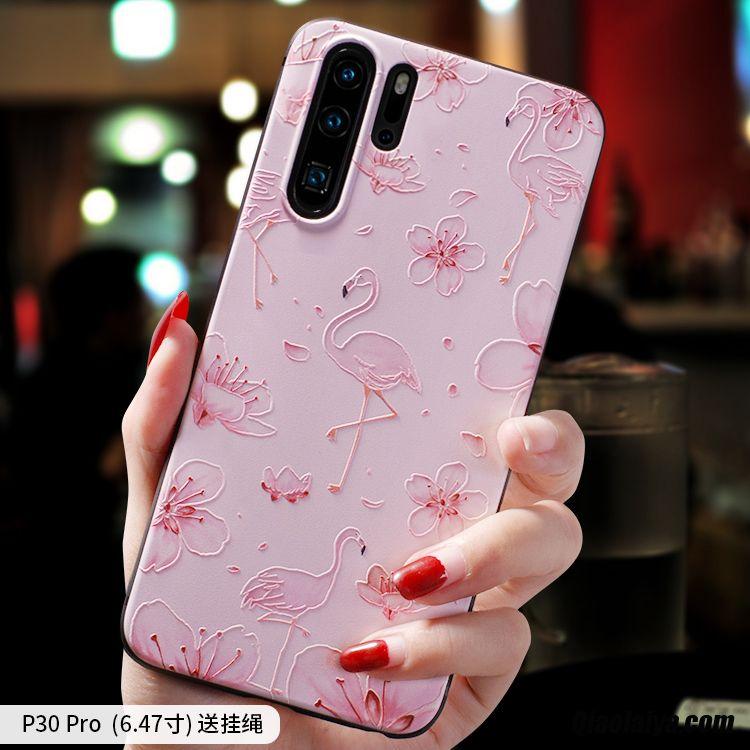 housse smartphone huawei etui en cuir souple housse telephones pas cher rose coque pour huawei p30