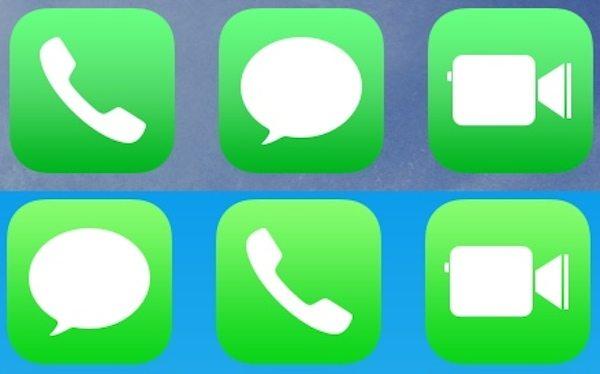 Beta 3 de iOS 7.1 — iconos