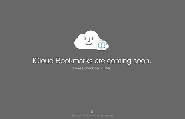 iCloud Bookmarks en iCloud.com