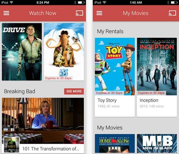google play movies tv ios