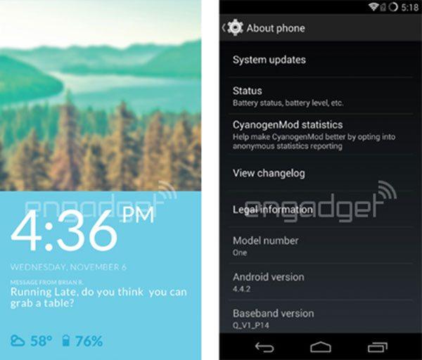 CyanogenMod 11S en el OnePlus One