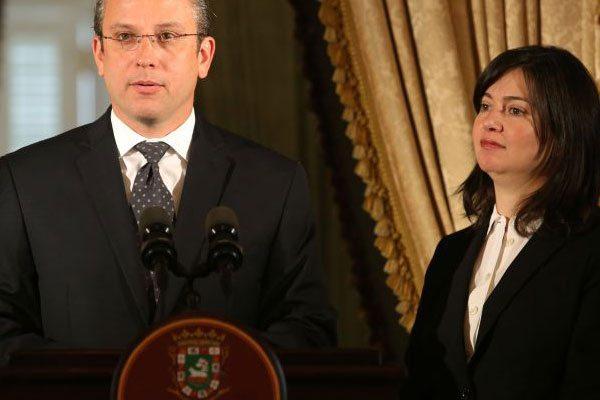 Alejandro García Padilla y Maite Oronoz