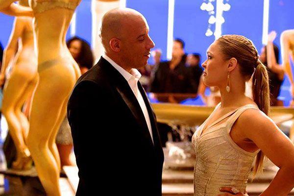 Vin Diesel y Ronda Rousey en Fast and Furious 7