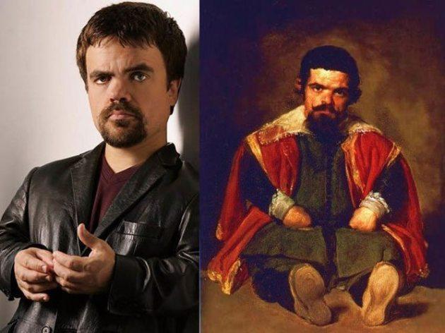 Peter Dinklage y el retrato de Sebastián de Morra hecho por Diego Velazquez