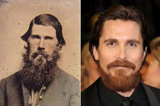 Christian Bale y un desconocido