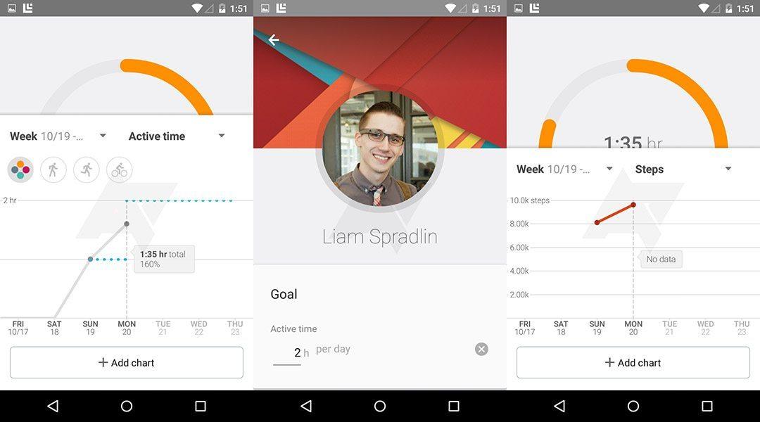 Google Fit app Android 5.0 Lollipop