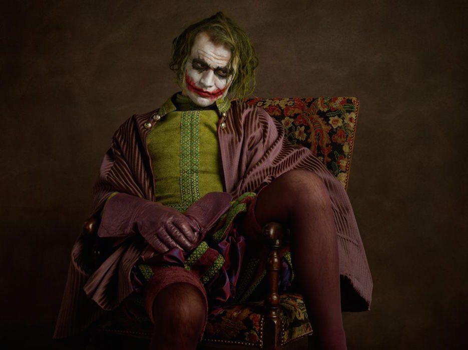 Joker fotografiado al estilo del Siglo 17