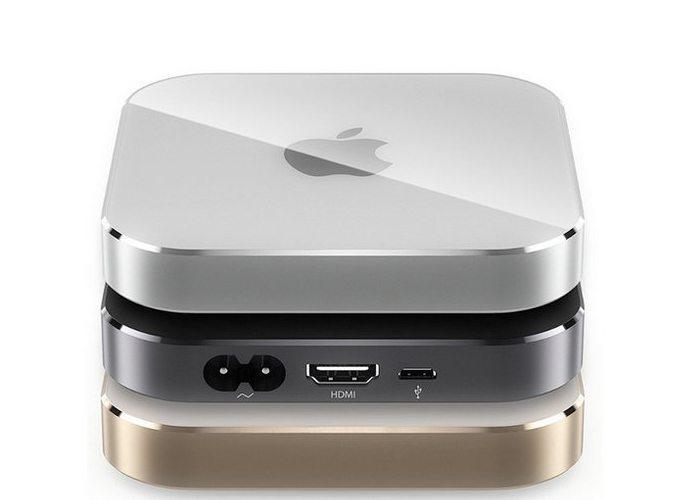 Concepto del nuevo Apple TV en los colores del iPhone 6