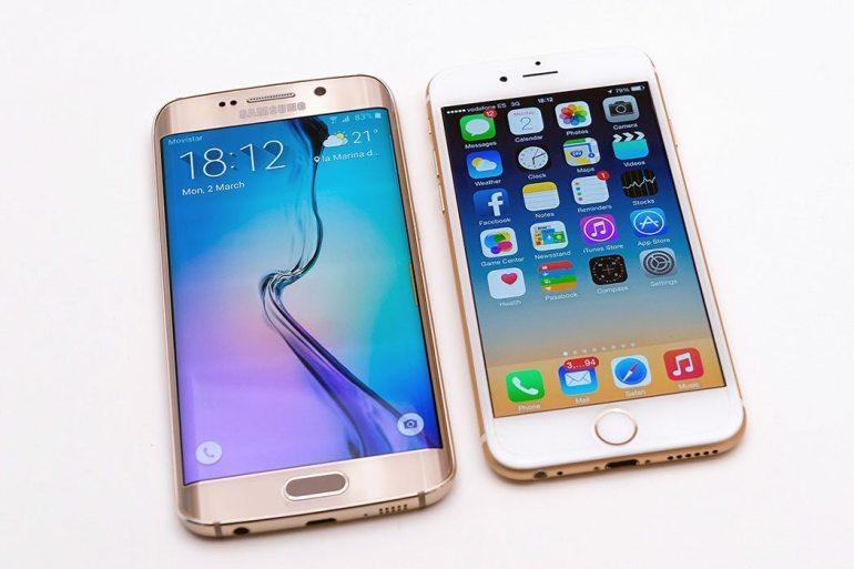 Samsung Galaxy S6 edge vs iPhone 6