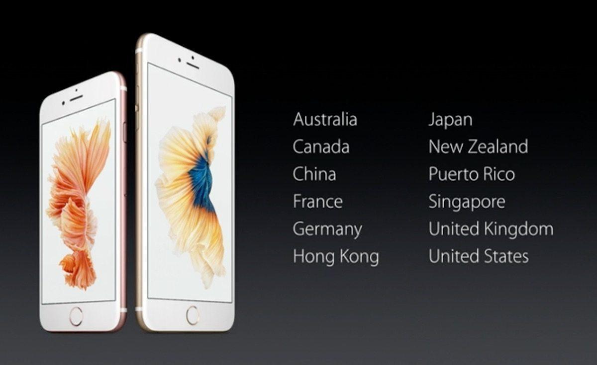 iPhone 6s y iPhone 6s Plus fecha lanzamiento
