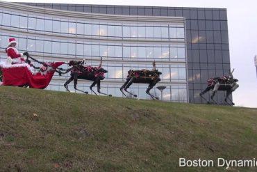 Feliz Navidad Boston Dynamics robots