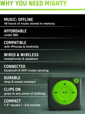 Mighty el iPod Shuffle para Spotify