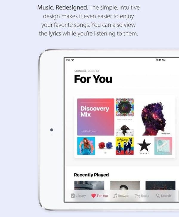 Apple Music en iOS 10