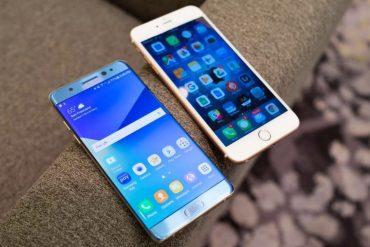 Samsung Galaxy Note 7 vs iPhone 6s ¿Cuál es más rápido?