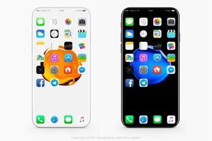 Concepto iPhone 8 Veniamin Geskin.