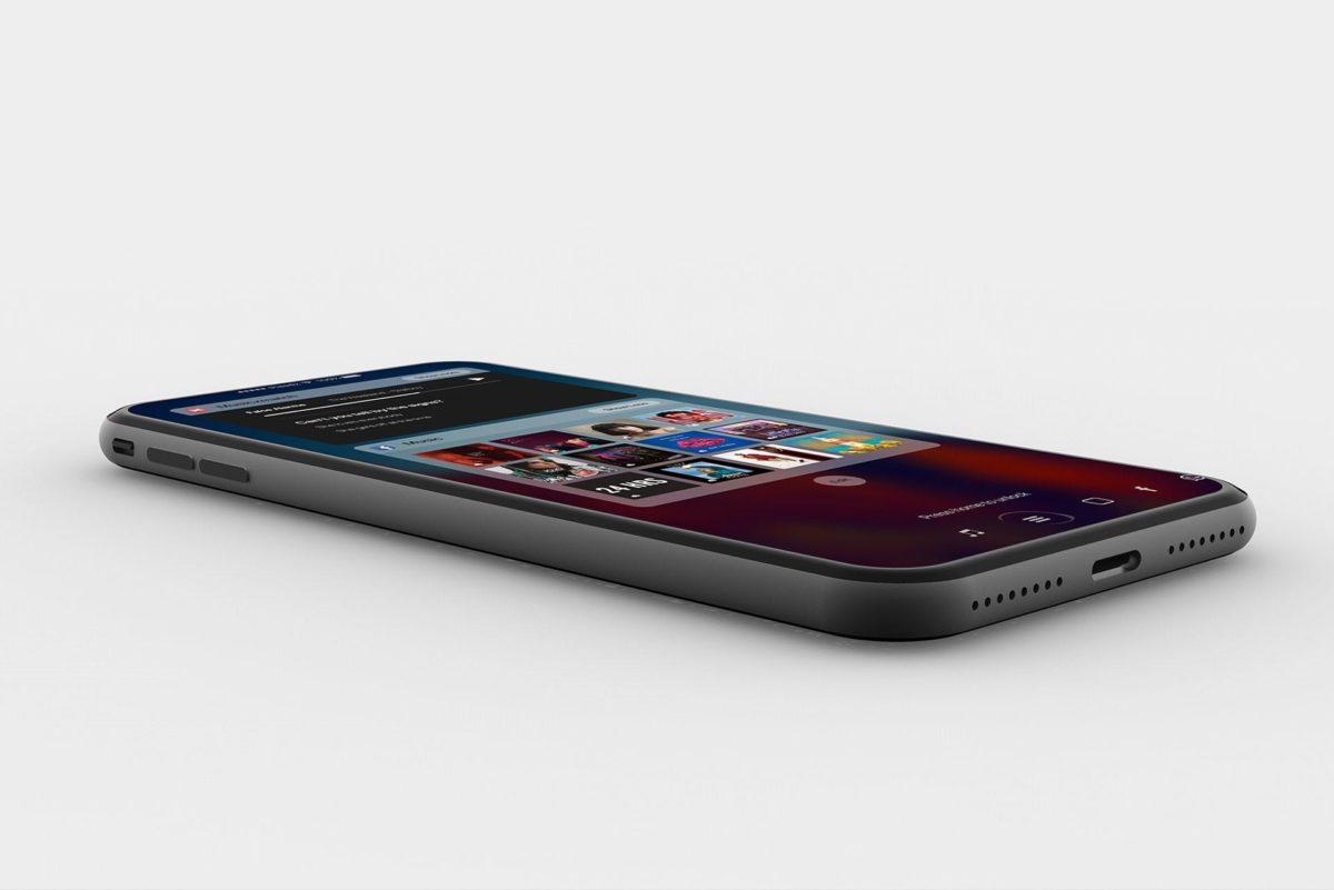 Concepto iPhone 8 con TouchBar