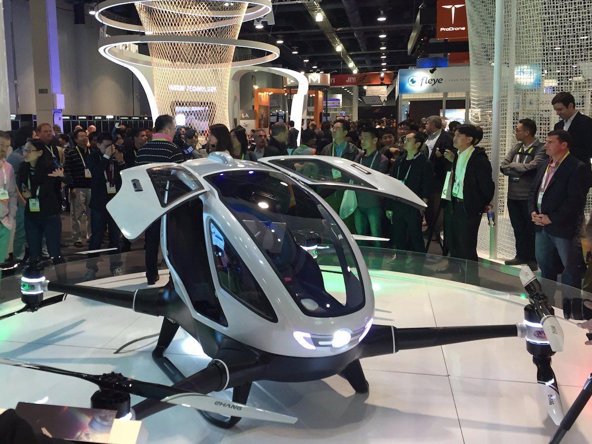 Ehang 184 Drone Taxi aereo Dubai