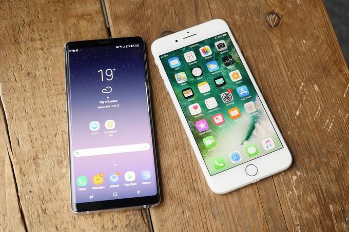 Comparativa: Galaxy Note 8 v. iPhone 7 Plus