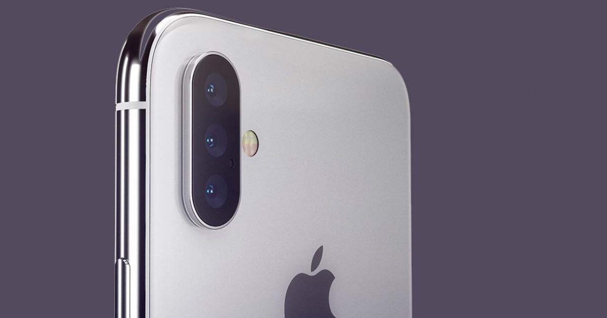 iPhone X1 tres cámaras concepto