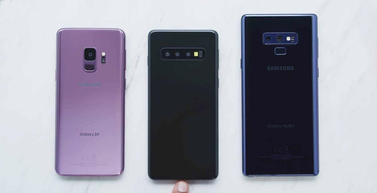 Galaxy S10 Galaxy Note9 y Galaxy S9+