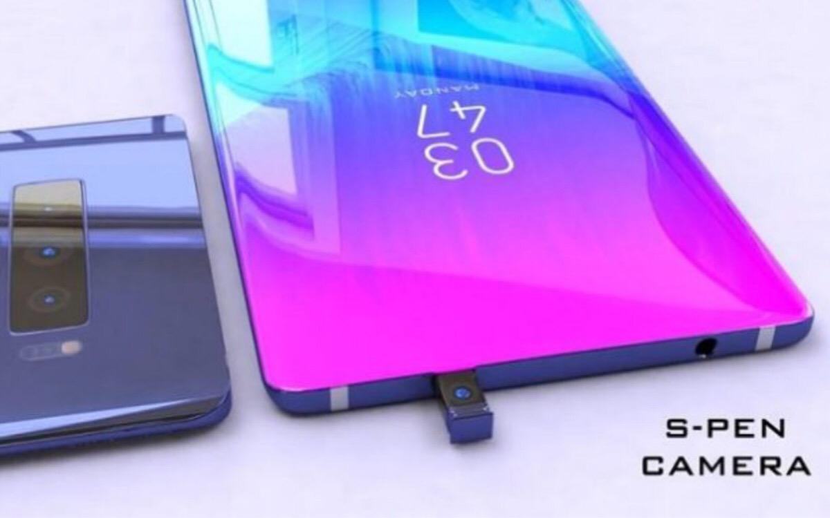 Concepto Galaxy Note 10 cámara S-Pen