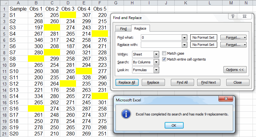 How To Replace Zeros With Blank Cells In An Excel Worksheet