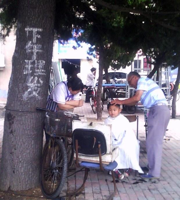 Roadside Barber Qingdao Boy