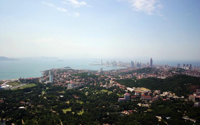 Qingdao Old Town Bay View Sea Hills Sky Yumi