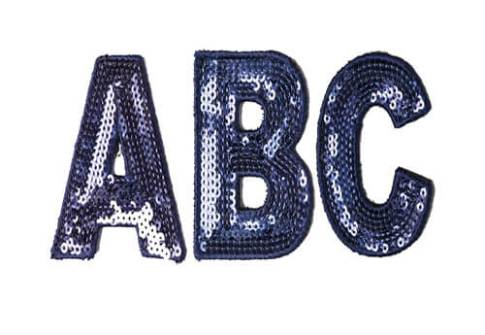 Custom Blue Sequin Letters