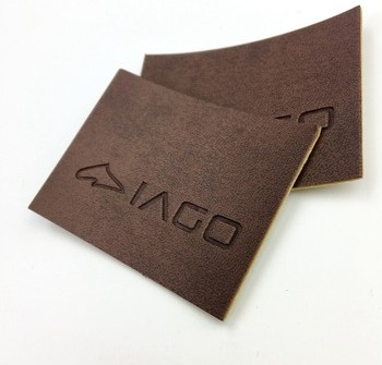 Custom brand jeans clothing clothes tag pu label embossed/metal leather label patch