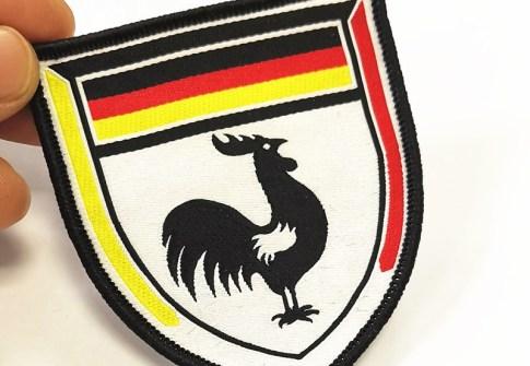 custom merrow border woven sport soccer patch for jerseys