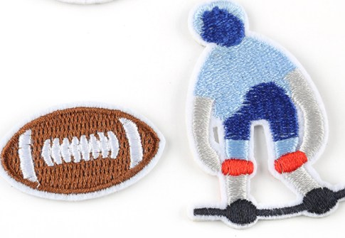 hot sale hockey rugby basketball baseball shape embroidered sports patches