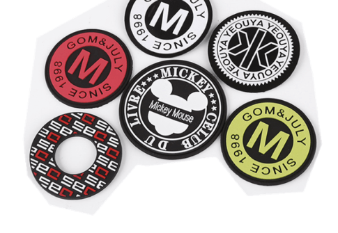 High Quality Eco-Friendly PVC soft silicone Custom Logo Printed patch embossed labels for clothes