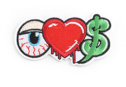Custom Cartoon Embroidered Chenille Patch for Garment