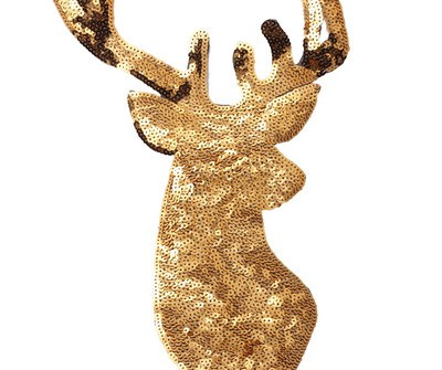 Christmas Sequin Patch Custom Iron On Animal Patch Deer Big Patch