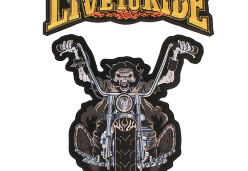 3d Well Made Personalized Skull Biker funny Accessories Motorcycle Embroidered Patch