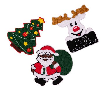 Christmas Wholesale Clothing Sew On Custom Embroidery Patch