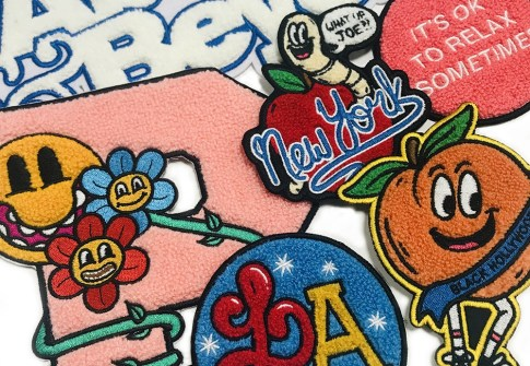 Wholesale custom embroidered cartoon letter chenille patches